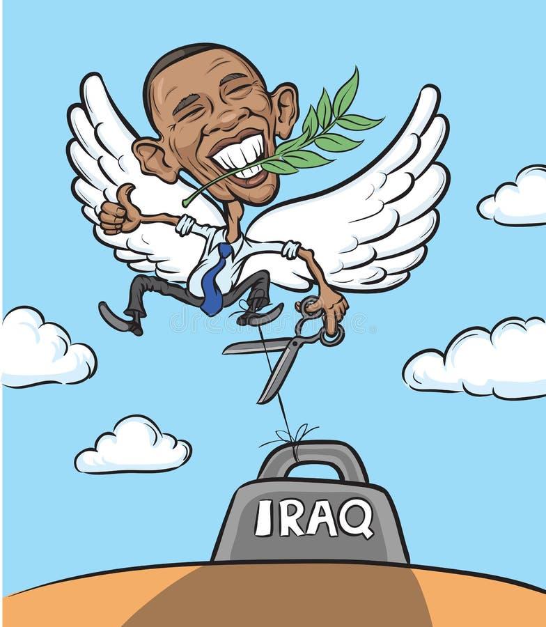 Wektorowa ilustracja prezydent Obama jako gołąbka ilustracja wektor