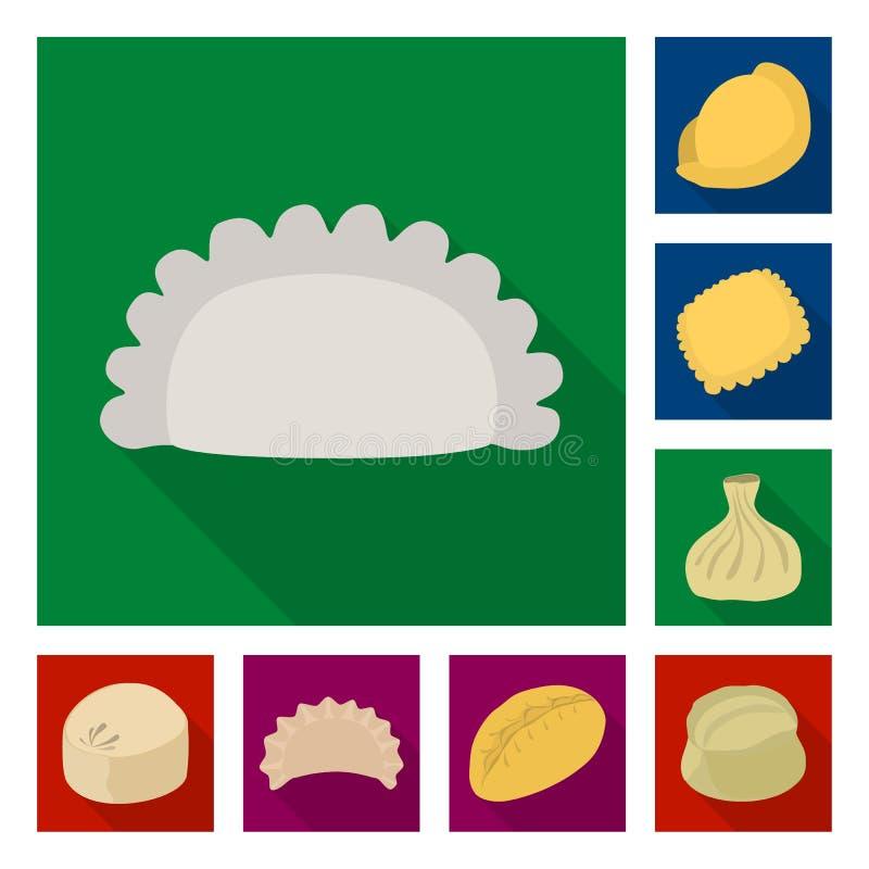 Wektorowa ilustracja produkty i kulinarny symbol Kolekcja produkty i zakąska akcyjny symbol dla sieci ilustracja wektor