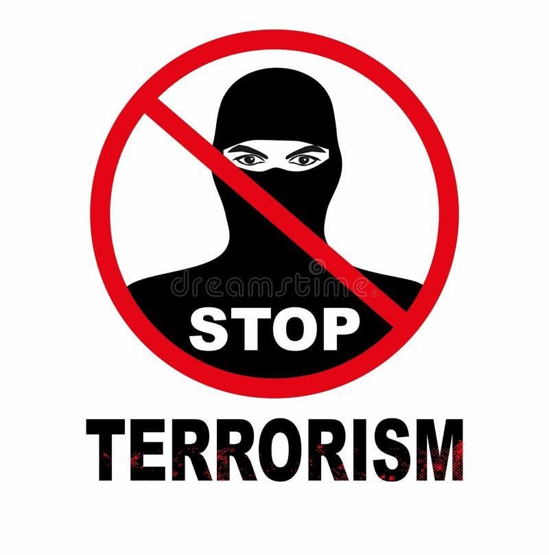 Wektorowa ilustracja przerwa terroryzmu tła pojęcie, odizolowywająca na białym tle ilustracja wektor