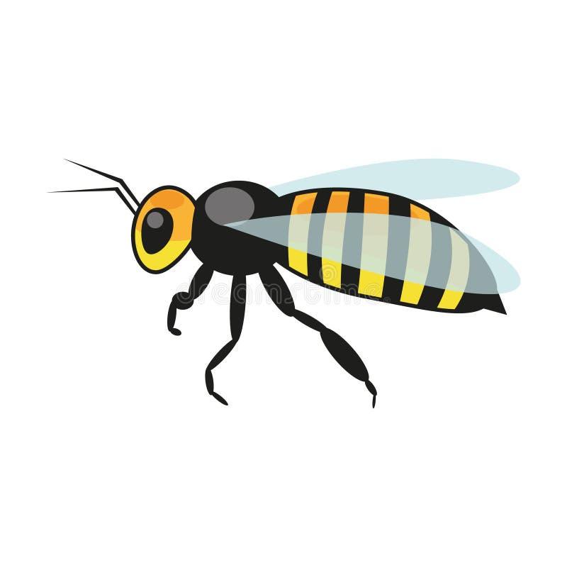 Wektorowa ilustracja pszczo?a na bia?ym tle ilustracji