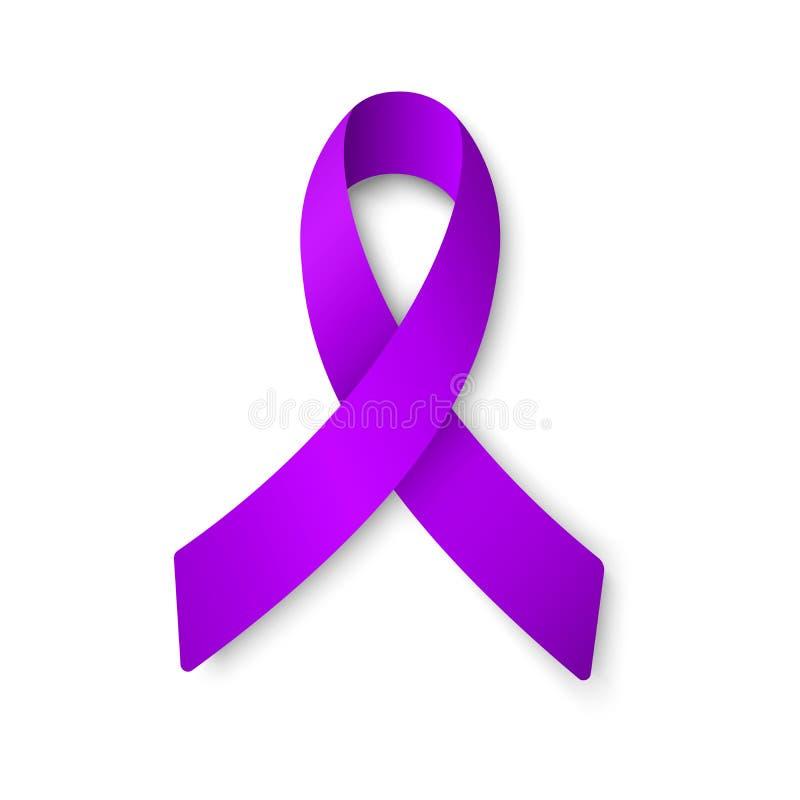 Wektorowa ilustracja purpurowy indygowy faborek odizolowywający na bielu Wektor EPS 10 ilustracji