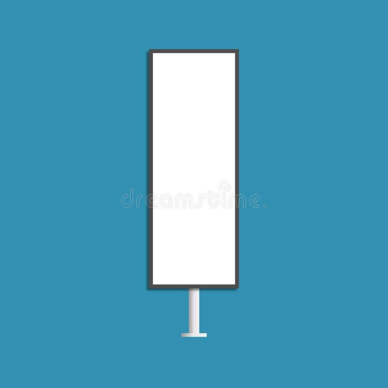 Wektorowa ilustracja pusty plenerowy reklama sztandar pionowo