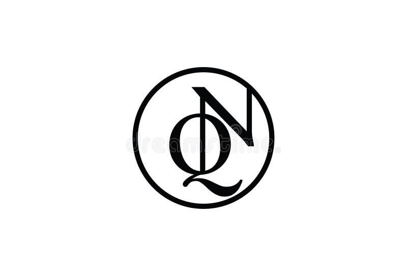 Wektorowa ilustracja Q N logo projekt ilustracja wektor
