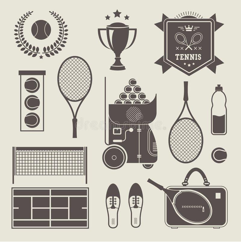 Wektorowe tenisowe ikony ilustracji
