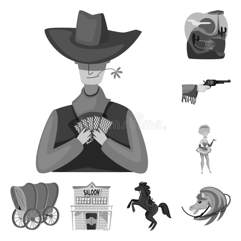 Wektorowa ilustracja rancho i gospodarstwa rolnego ikona Set rancho i historia akcyjny symbol dla sieci ilustracji