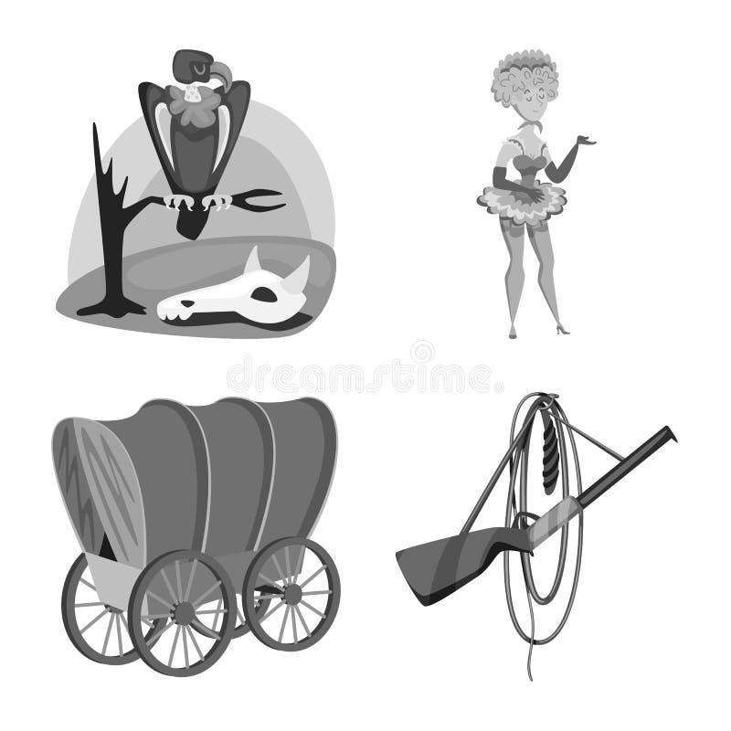 Wektorowa ilustracja rancho i gospodarstwa rolnego logo Kolekcja rancho i historii akcyjna wektorowa ilustracja ilustracji