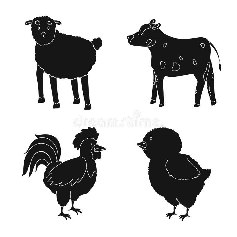 Wektorowa ilustracja rancho i organicznie logo Set rancho i jedzenia wektorowa ikona dla zapasu ilustracji