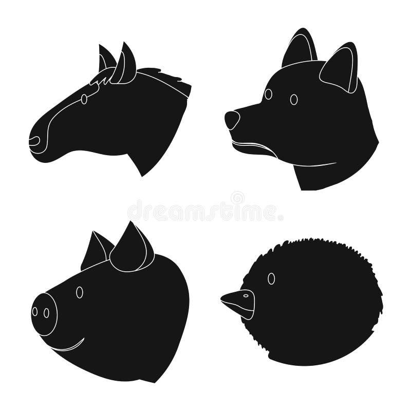Wektorowa ilustracja rancho i organicznie znak Kolekcja rancho i kierowniczy akcyjny symbol dla sieci royalty ilustracja