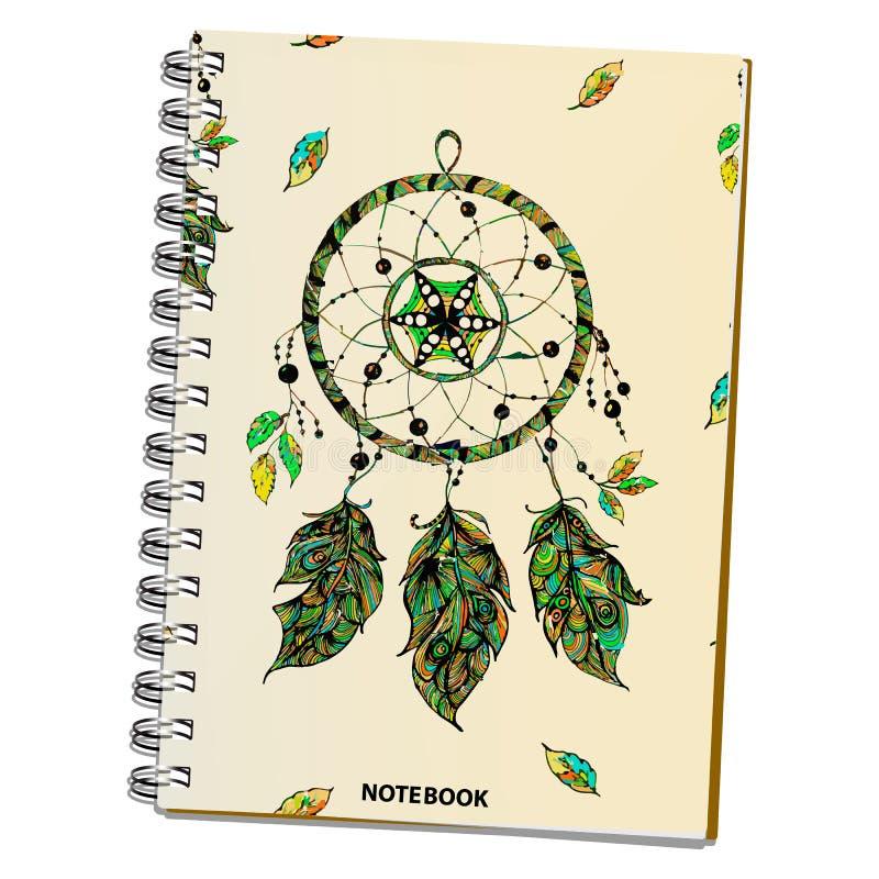 Wektorowa ilustracja realistyczny notatnik zdjęcia royalty free
