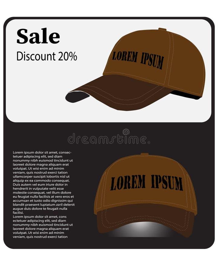 Wektorowa ilustracja reklamowy kapelusz ilustracji