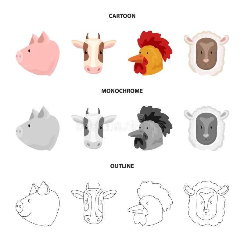 Wektorowa ilustracja rolnictwa i hodowli ikona Kolekcja rolnictwo i organicznie akcyjny symbol dla sieci ilustracja wektor