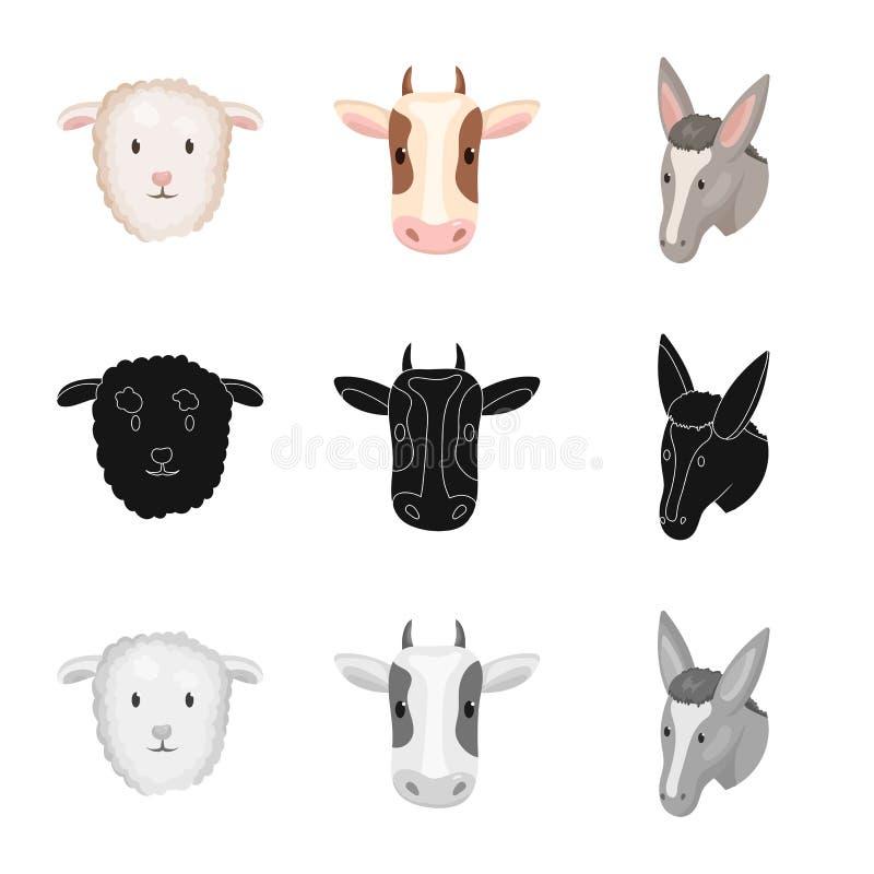 Wektorowa ilustracja rolnictwa i hodowli ikona Set rolnictwo i organicznie akcyjny symbol dla sieci royalty ilustracja