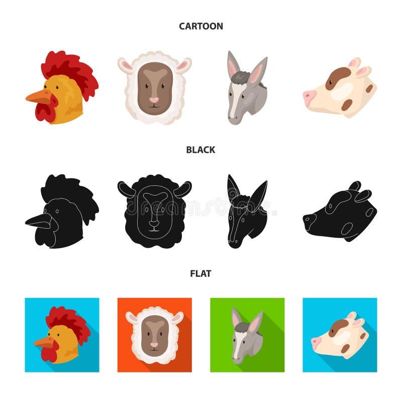 Wektorowa ilustracja rolnictwa i hodowli logo Kolekcja rolnictwo i organicznie akcyjna wektorowa ilustracja royalty ilustracja