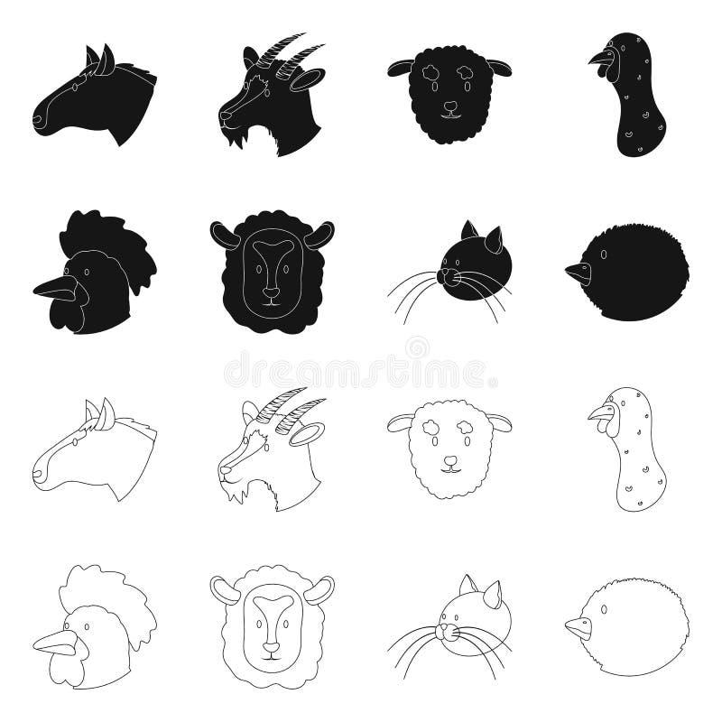 Wektorowa ilustracja rolnictwa i hodowli symbol Kolekcja rolnictwo i organicznie akcyjna wektorowa ilustracja ilustracja wektor