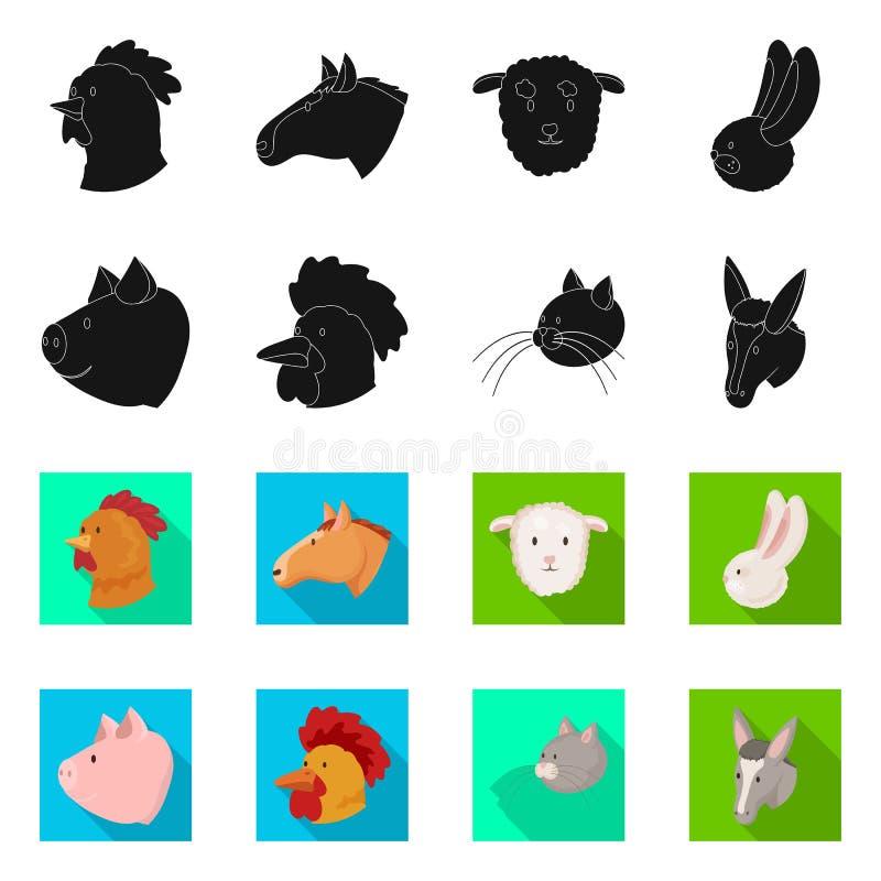 Wektorowa ilustracja rolnictwa i hodowli znak Set rolnictwo i organicznie akcyjna wektorowa ilustracja ilustracji