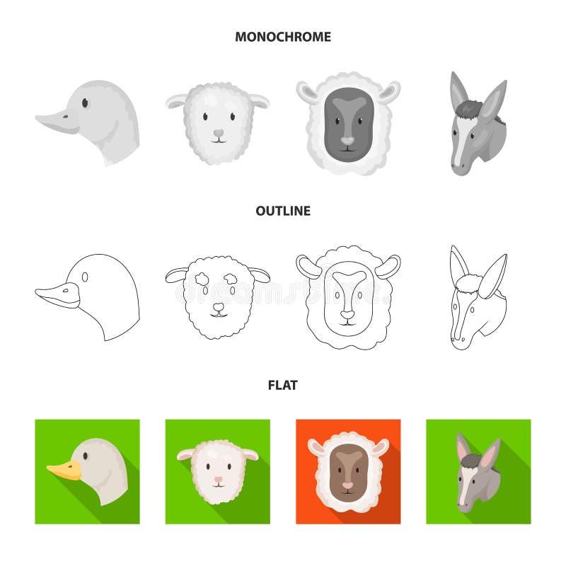 Wektorowa ilustracja rolnictwa i hodowli znak Set rolnictwo i organicznie wektorowa ikona dla zapasu royalty ilustracja