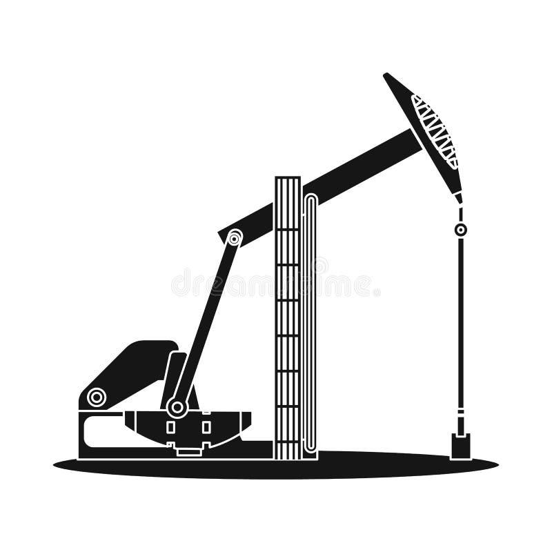 Wektorowa ilustracja ropa i gaz ikona Kolekcja oleju i benzyny akcyjna wektorowa ilustracja ilustracji