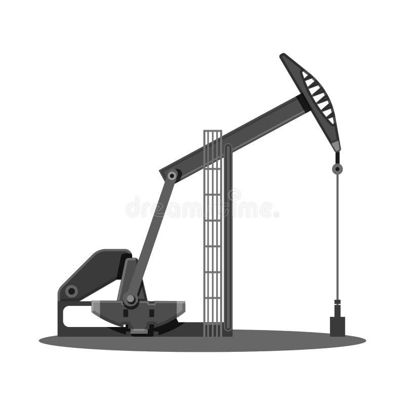Wektorowa ilustracja ropa i gaz ikona Set oleju i benzyny akcyjny symbol dla sieci ilustracji