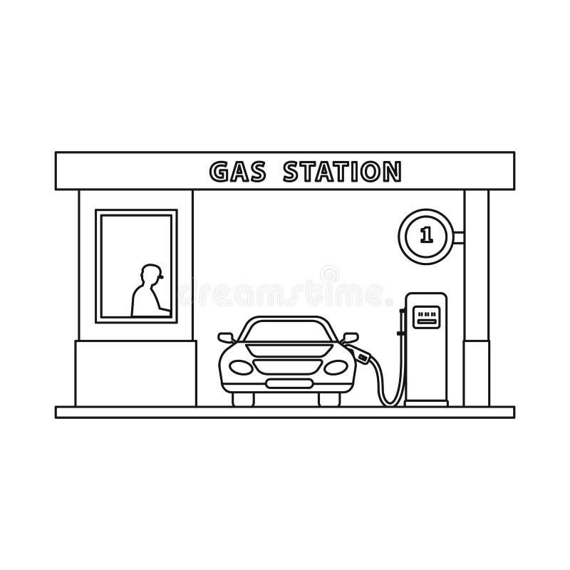 Wektorowa ilustracja ropa i gaz ikona Set oleju i benzyny wektorowa ikona dla zapasu royalty ilustracja