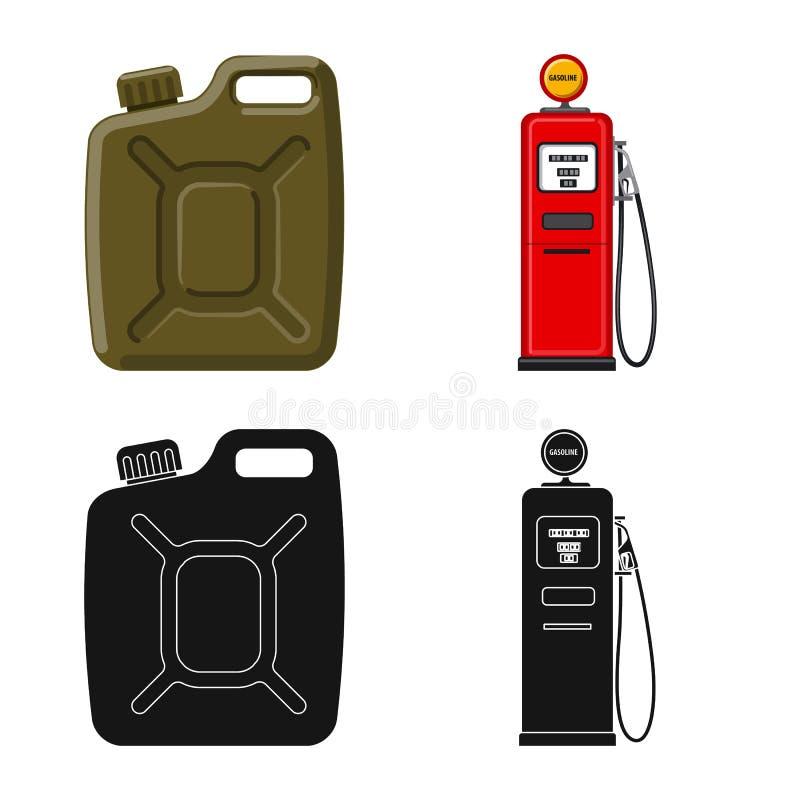 Wektorowa ilustracja ropa i gaz logo Kolekcja oleju i benzyny akcyjna wektorowa ilustracja royalty ilustracja