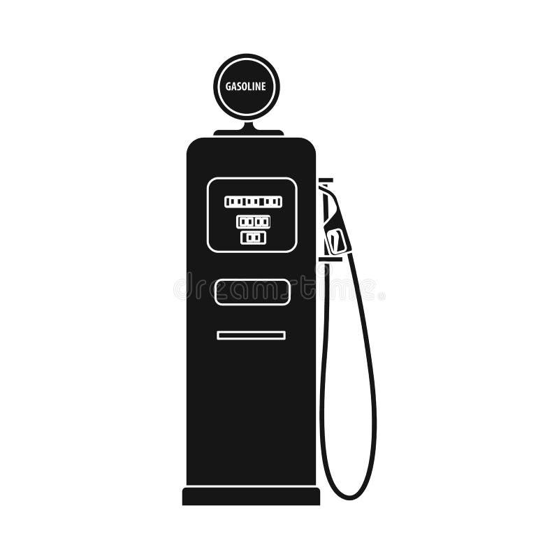 Wektorowa ilustracja ropa i gaz logo Kolekcja oleju i benzyny wektorowa ikona dla zapasu ilustracja wektor