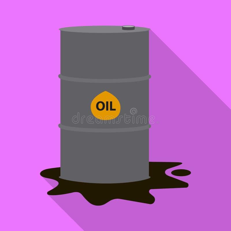 Wektorowa ilustracja ropa i gaz symbol Kolekcja oleju i benzyny akcyjna wektorowa ilustracja ilustracji