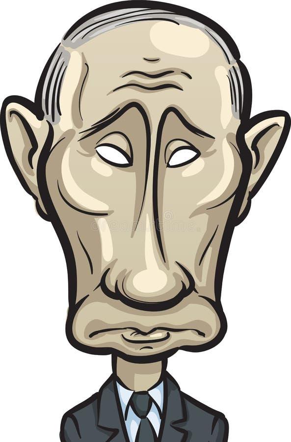 Wektorowa ilustracja Rosyjski prezydent Vladi ilustracja wektor