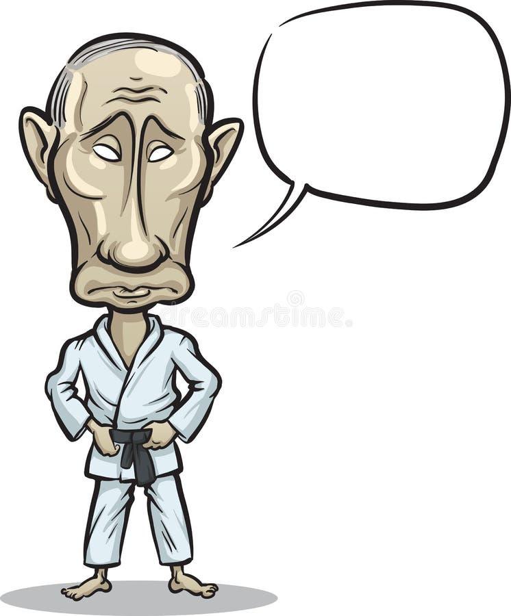 Wektorowa ilustracja Rosyjski prezydent Vladim ilustracja wektor