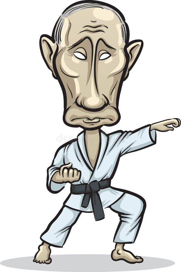 Wektorowa ilustracja Rosyjski prezydent Vladim
