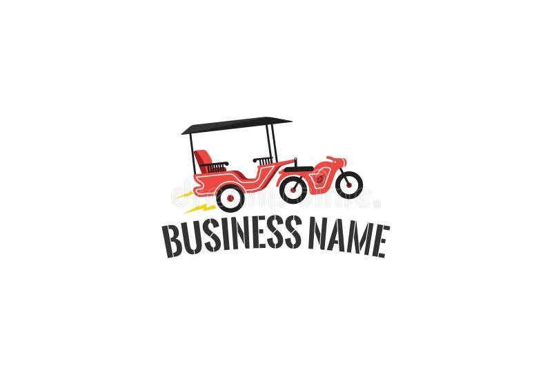 Wektorowa ilustracja roweru logo royalty ilustracja