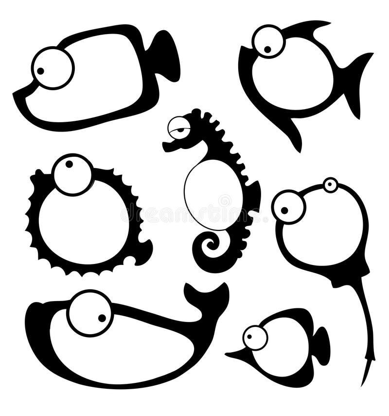 Wektorowa ilustracja ryba rama ilustracji