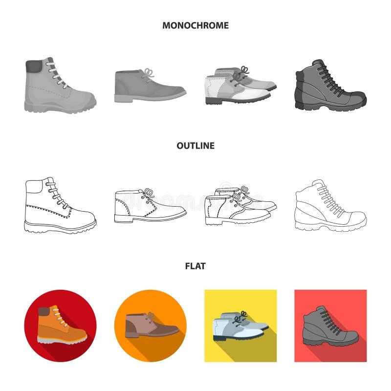 Wektorowa ilustracja rzemienny i przypadkowy znak Set rzemienny i formalny akcyjny symbol dla sieci ilustracji