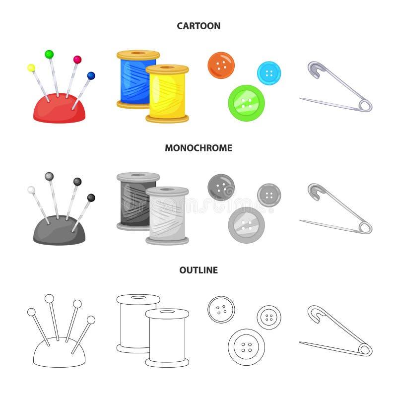 Wektorowa ilustracja rzemios?o i handcraft ikon? Set rzemios?a i przemys?u wektorowa ikona dla zapasu ilustracja wektor