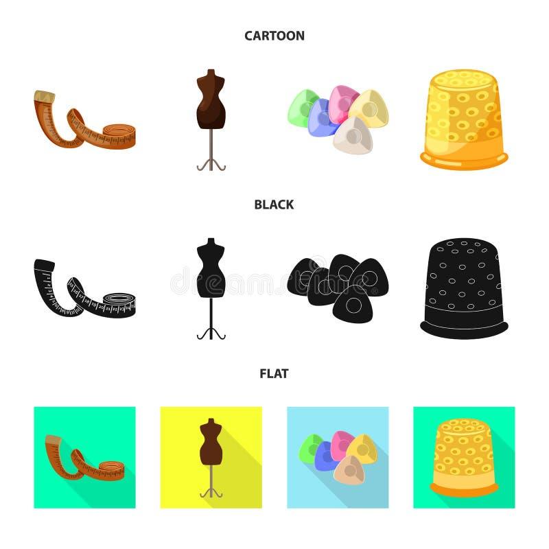 Wektorowa ilustracja rzemios?o i handcraft symbol Kolekcja rzemios?a i przemys?u akcyjny symbol dla sieci royalty ilustracja