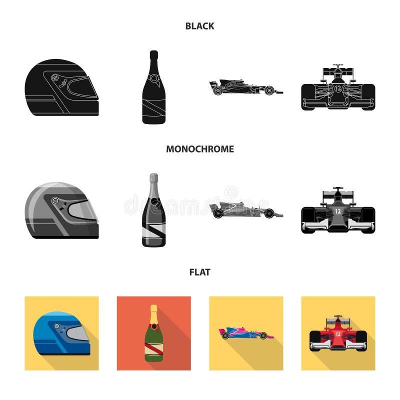 Wektorowa ilustracja samochód i wiec ikona Set samochodu i rasy akcyjna wektorowa ilustracja ilustracja wektor
