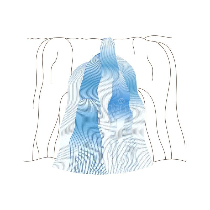 Wektorowa ilustracja siklawy kaskada royalty ilustracja