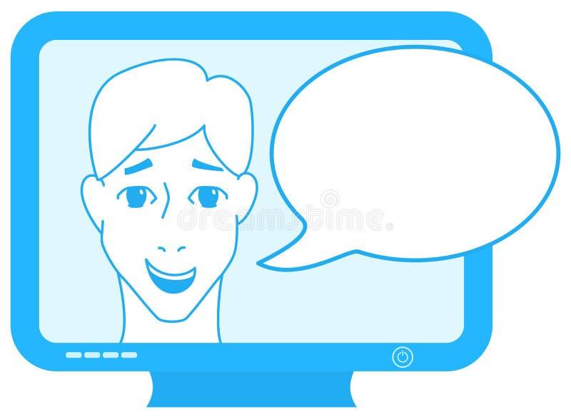 Spiker na TV ilustracja wektor