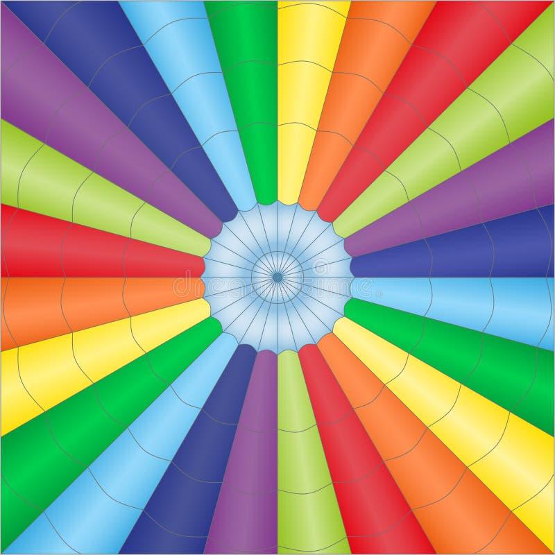Wektorowa ilustracja stubarwny spadochronu balonu babackground ilustracji