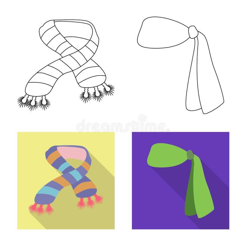 Wektorowa ilustracja szalika i chusty symbol Kolekcja szalika i akcesorium akcyjna wektorowa ilustracja ilustracja wektor