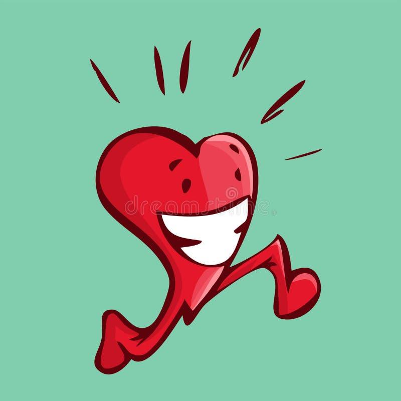 Wektorowa ilustracja szczęśliwy kierowy bieg robi niektóre cardio w ilustracji