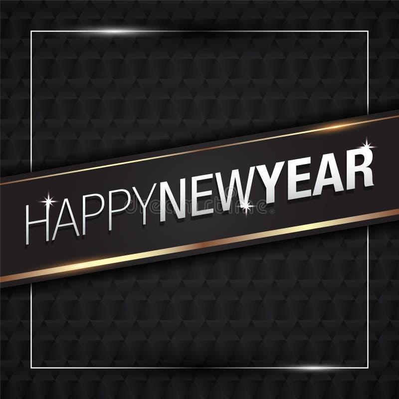 Wektorowa ilustracja Szczęśliwy nowego roku 2018 złoto z czerń wzoru kolorami royalty ilustracja