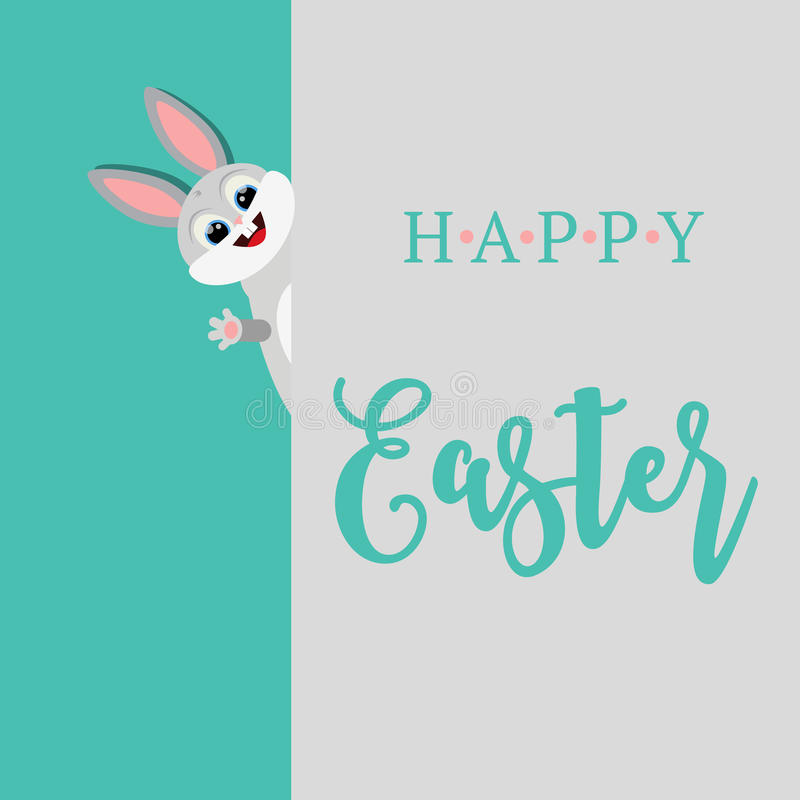 Wektorowa ilustracja Szczęśliwy Wielkanocny królik 2007 pozdrowienia karty szczęśliwych nowego roku zdjęcia stock