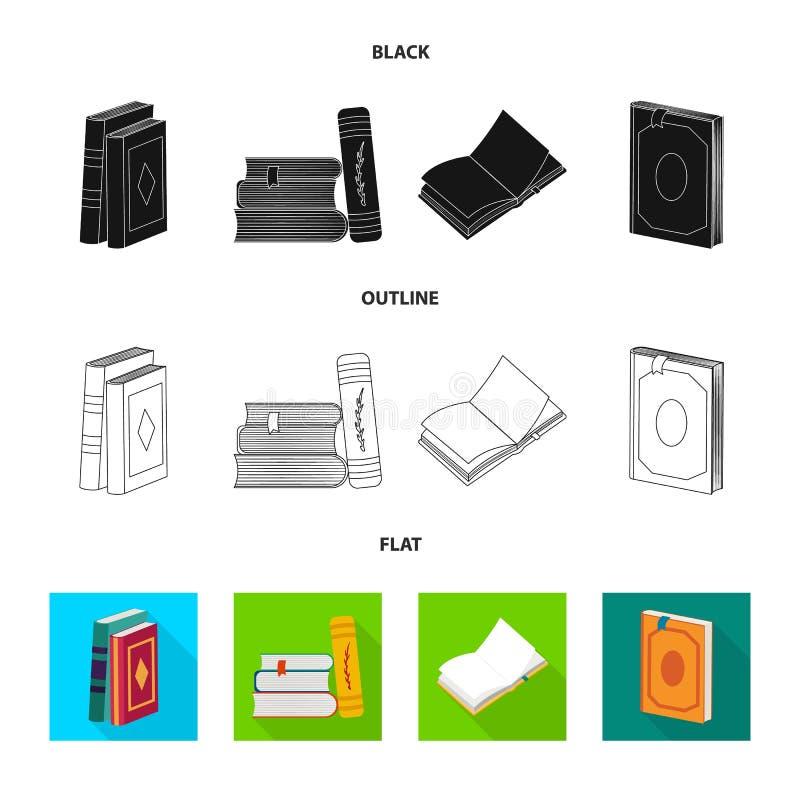 Wektorowa ilustracja szkolenia i pokrywy ikona Kolekcja szkolenie i bookstore akcyjna wektorowa ilustracja ilustracji