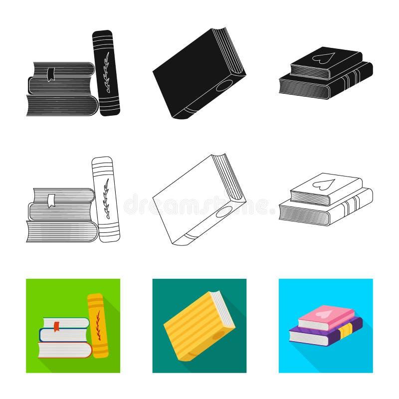 Wektorowa ilustracja szkolenia i pokrywy ikona Kolekcja szkolenie i bookstore akcyjny symbol dla sieci royalty ilustracja