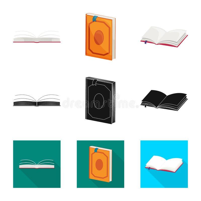 Wektorowa ilustracja szkolenia i pokrywy ikona Kolekcja szkolenie i bookstore akcyjny symbol dla sieci ilustracja wektor