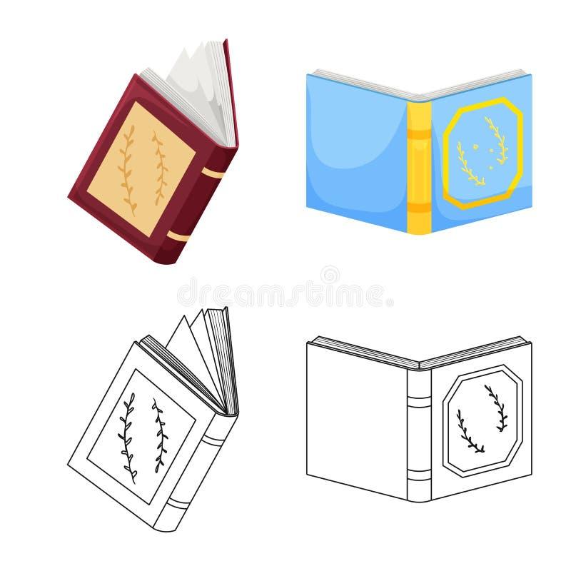 Wektorowa ilustracja szkolenia i pokrywy ikona Kolekcja szkolenie i bookstore wektorowa ikona dla zapasu royalty ilustracja