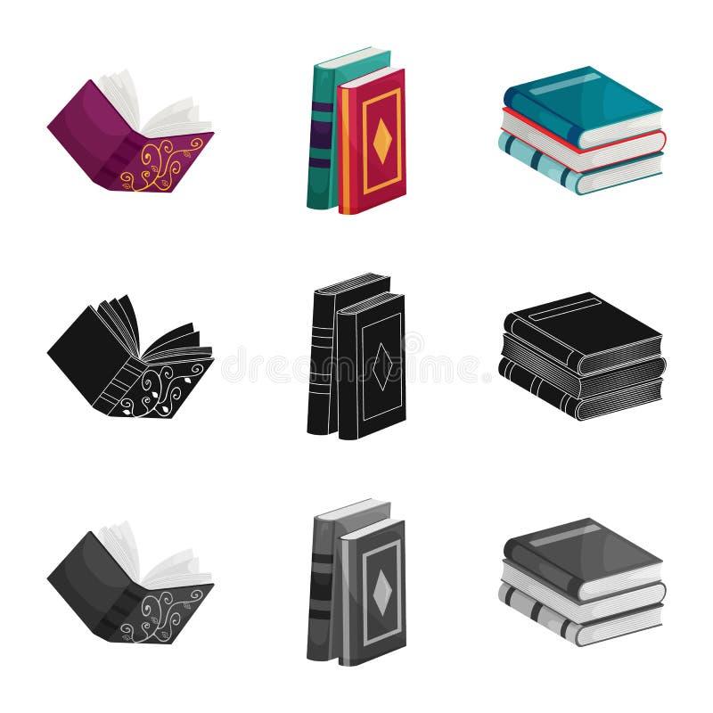 Wektorowa ilustracja szkolenia i pokrywy ikona Kolekcja szkolenie i bookstore wektorowa ikona dla zapasu ilustracji
