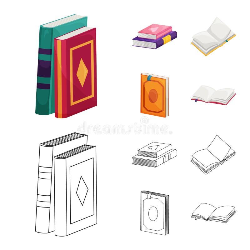Wektorowa ilustracja szkolenia i pokrywy ikona Kolekcja szkolenie i bookstore wektorowa ikona dla zapasu ilustracja wektor
