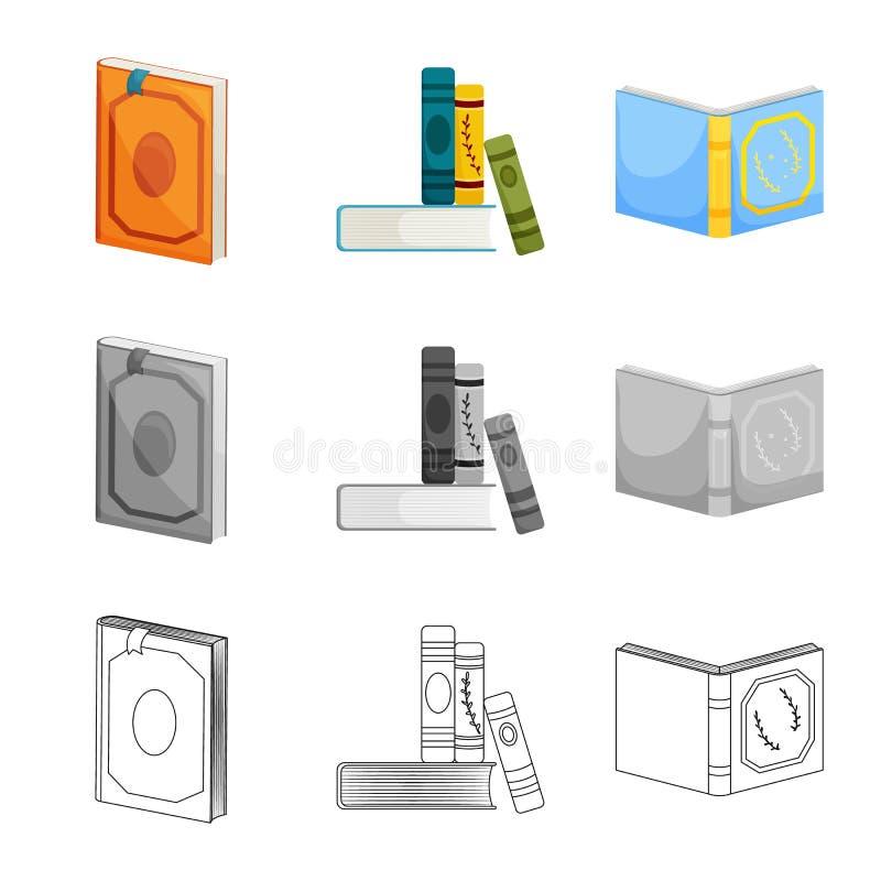 Wektorowa ilustracja szkolenia i pokrywy ikona Set szkolenie i bookstore akcyjna wektorowa ilustracja ilustracji