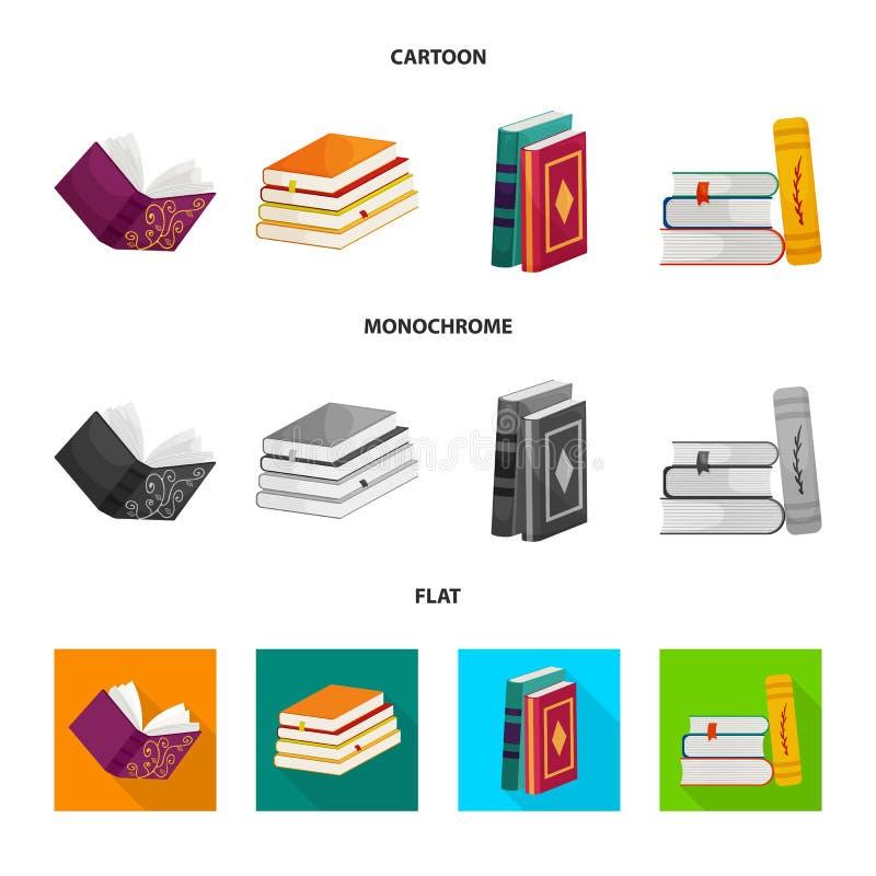 Wektorowa ilustracja szkolenia i pokrywy ikona Set szkolenie i bookstore akcyjny symbol dla sieci ilustracja wektor